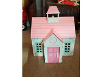 Early Learning Centre (ELC) School House Doll's House - with furniture and dolls