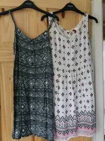 Size 6 dress x2 Primark & H&M holiday clothes