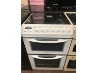 55CM WHITE ELECTRIC COOKER TWIN CAVITY