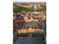 A beautiful aerial photograph of your home printed on canvas