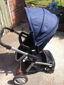Mothercare Roam pram and car seat. Used but in good condition.