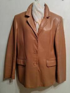 Oakville Womens 12 HOLT RENFREW $600 Leather Jacket and Matching Scarf