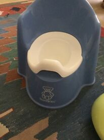 Baby bjorn potty has been disinfected and more or less brand new