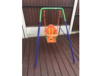 childs swing suitable from 10 months upwards good condition