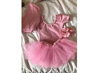 Girls pink ballet uniform age 3-4