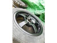 Satin black alloy wheels