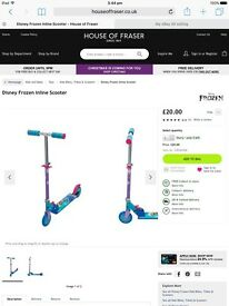 Disney Frozen Used but Boxed kids Scooter