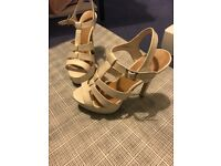 White high heels size 6