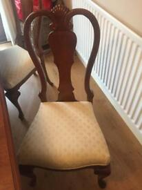 Solid mahogany table & chairs