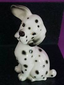 Gorgeous vintage 1950's kitch Dalmatian dog ornament..9 inches tall