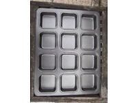 12 Hole Square Non Stick Muffin Tray IP1