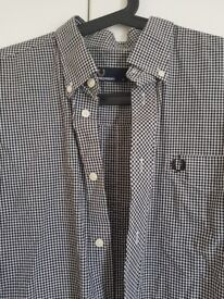 fred perry checked mens shirt