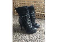 Women's size 5 Black high heel boots