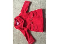 Girls bluezoo red coat age 2-3
