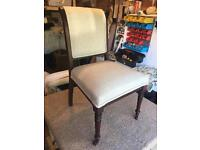 Occasional/bedroom Chair Professionally Upholstered In Pale Grey Wool