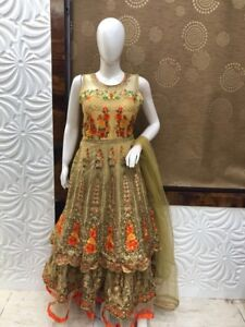 Indian pakistani ladies eid mela Anarkali Lehnga gown salwar