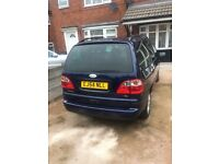 Blue Ford Galaxy Zetec TDI