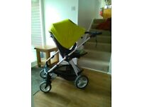 Sola 2 pushchair with carrycot and car seat adaptors