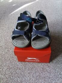 Size 12 Slazenger sandals with original box