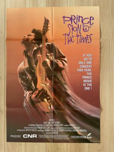 PRINCE - Sign 'O' The Times - 1987 Originele poster