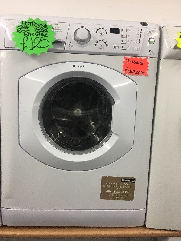 HOTPOINT 6KG DIGITAL TIMER SCREEN WASHING MACBINE IN WHITE