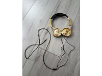 Skull Candy Gold Coloured Headphones