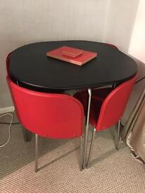 4 seater table & chairs