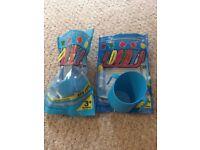 Bickiepegs blue doidy cups x 2