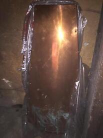 Brass chimney hood