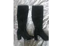 River Island knee high boots black, size 5, new, rrp £75