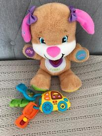 Fisher Price Laugh and Learn Puppy. Vtech Car Keys Rattle. Toy Bundle.