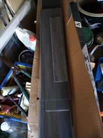 Laminate flooring grey and light wood free to collector