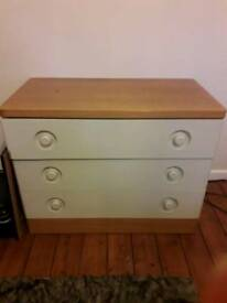 Chest of draws and bedside cabinets