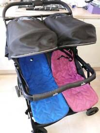DOUBLE BUGGY SIDE BY SIDE SOUTHEND EXCELLENT