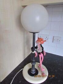 Vintage Pink Panther Table Lamp