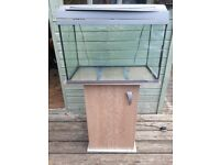 60lt Tetra fish tank stand pump filter and light