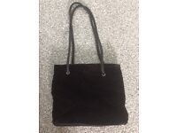 New Black suede ladies bag