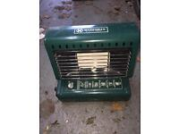 Marksman butane gas heater with 4 canisters