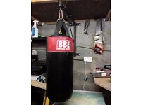 Small punchbag with bracket.