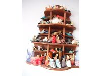 Miniature shoe collection for sale and wooden display stand