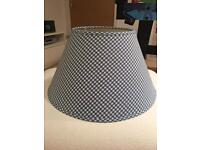 White Company blue / white gingham ceiling light shade - have two £10 each