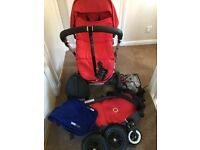 Bugaboo Pram / pushchair plus accessories (Pram base with instructions)