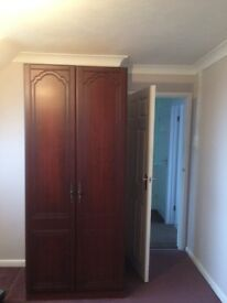 Wardrobe in mahogany