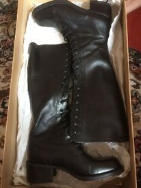Victorian style knee high boots