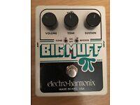Electro Harmonix Big Muff Pi + Tone Wicker Distortion Effect Pedal