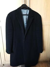 Calvin Klein men classic black wool coat