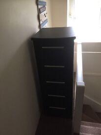 Black glossy dresser