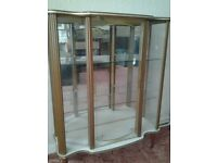 Mirror backed display cabinet