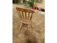 Free dining chair - needs work!