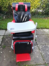 Chelsea Tilt in Space Wheelchair includes tray, footrest and head support only used for 8 months